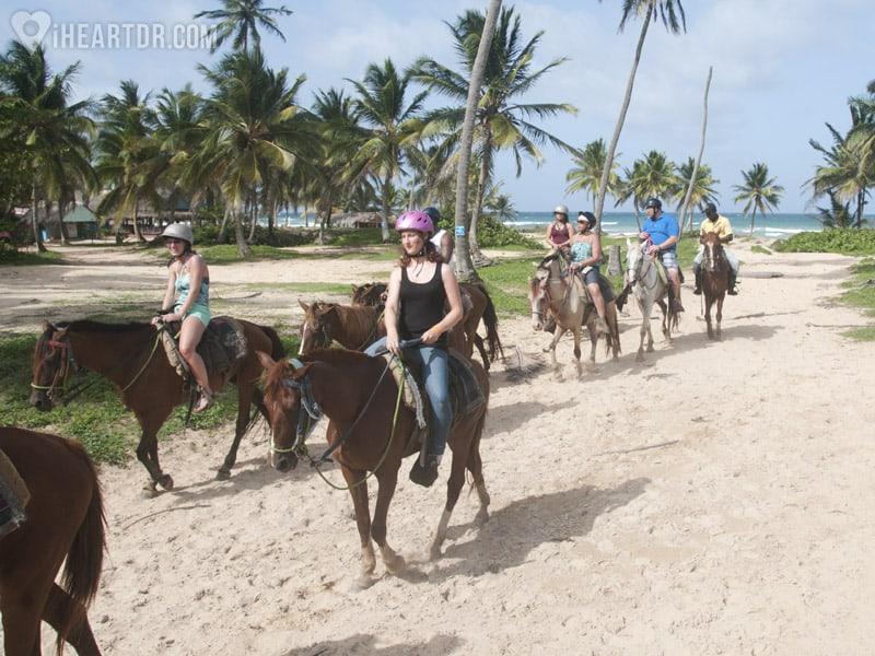 Group of people riding their horses