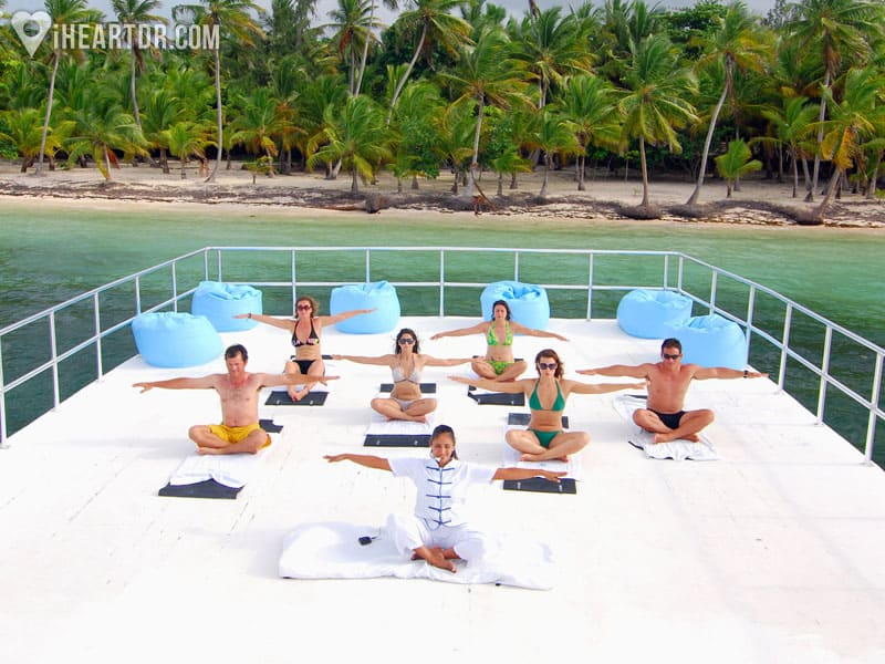 Group yoga lessons
