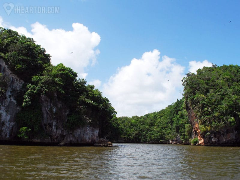 sailing a river in Los Haitises
