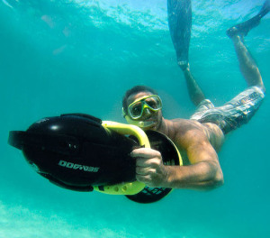 Man power snorkeling