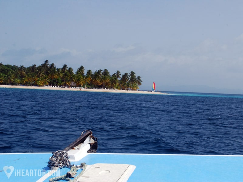 Cayo Levantado seen from the boat