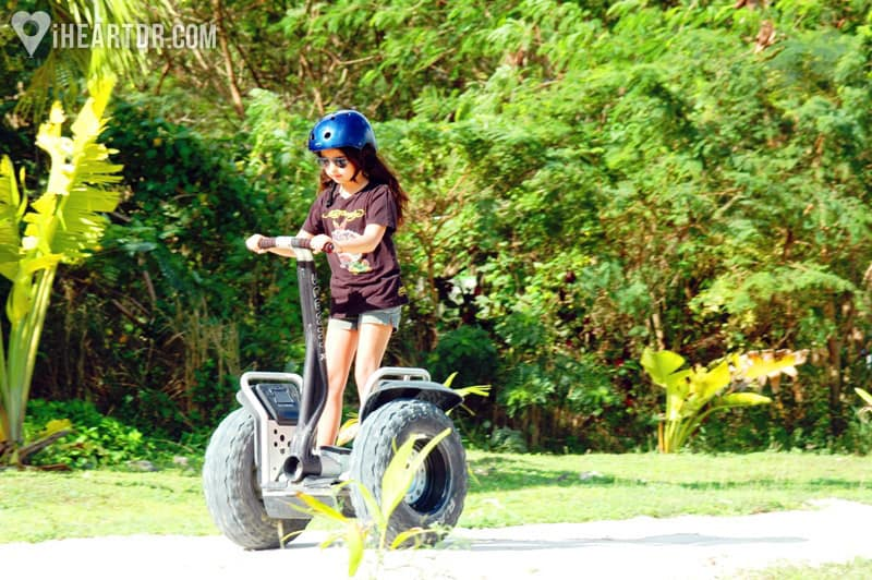 Girl riding her segway