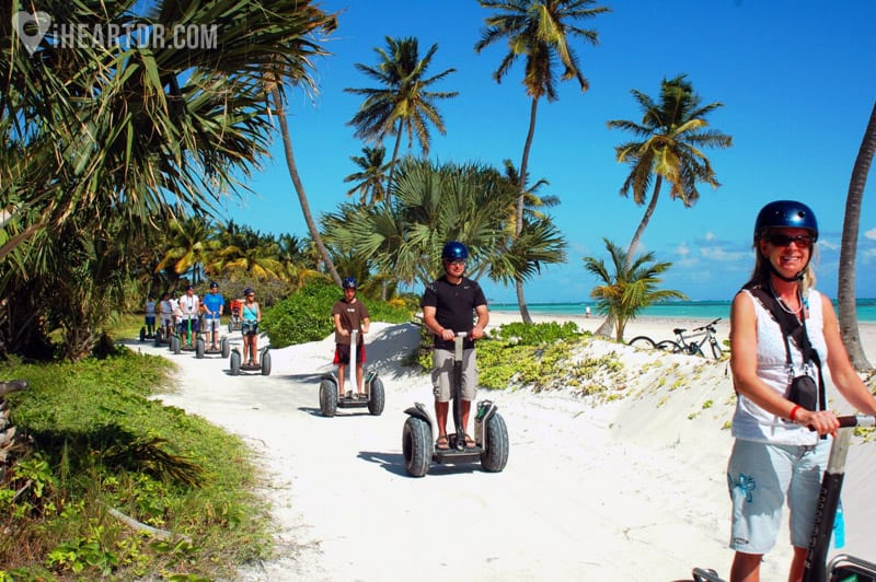 Group riding the segways