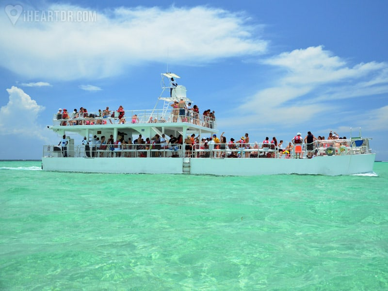 The stingray bay caribbean festival boat seen from a distance