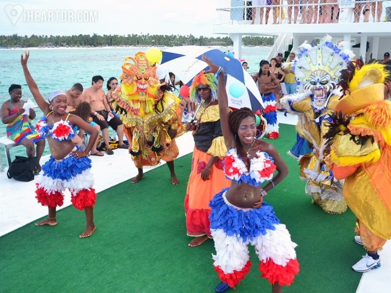 Caribbean style festival on the boat