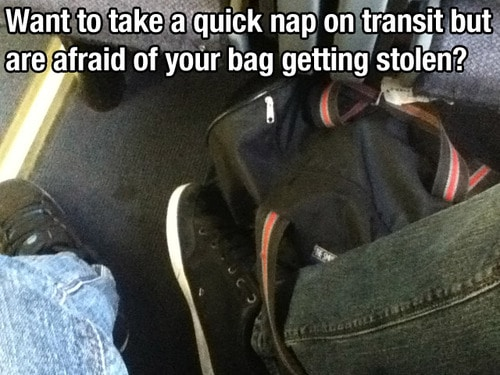 What to do when you want to take a nap in public transportation to protect your bag