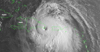 Satellite imagery of hurricane Georges affecting DR