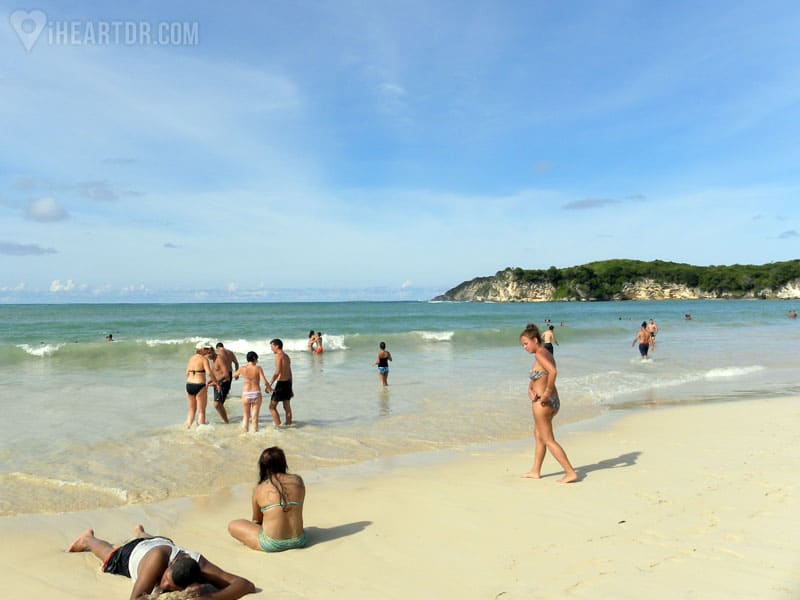 People at Macao beach