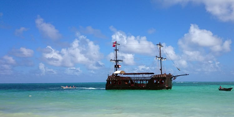 Pirate Ship Replica Sailing on the Punta Cana Coast. Things to Do in Punta Cana with Kids - iHeartDR
