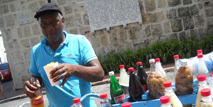 Street vendor in the Dominican Republic