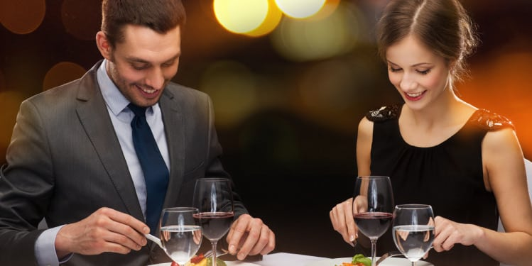Couple dining in a restaurant