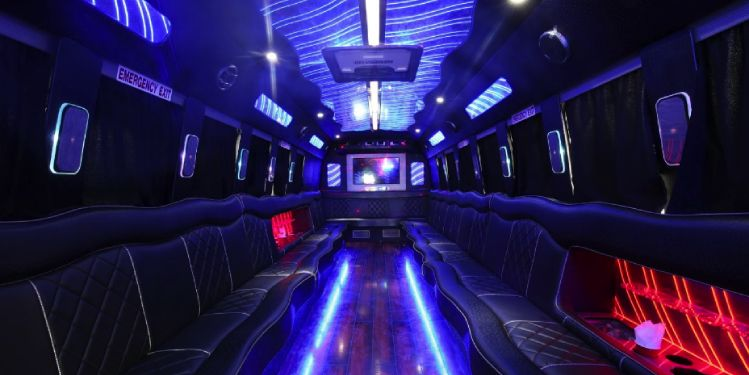 Inside party bus